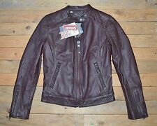 New Schott NYC Women's Rare Brown Real Leather Jacket Uk Size 8- 10 RRP £369 !!