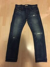 Uniqlo Blue Japan Jeans Denim Damaged Slim Skinny Size 32