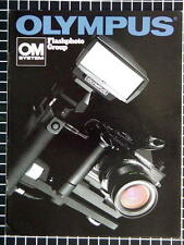 OLYMPUS OM FLASH GROUP BOOKLET 215mm x 280mm (8.5''x 11'') 14 pages 08/1980