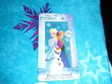 DISNEY FROZEN ELSA,ANNA AND OLAF 100% COTTON BEACH TOWEL NEW WITH TAGS!!!!