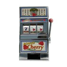 Casino Slot Machine Coin Piggy Bank Toy Fruit Jackpot Las Vegas Mechanical Fun
