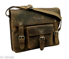 LandLeder  1007 -Old School-Messenger Bag  Postbag Unisex vintage-Brown Tasche