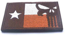 TEXAS TX FLAG PUNISHER USA ARMY U.S. TACTICAL MILITARY EMBROIDERY  PATCH SK+ 545