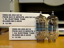 TUBES 2 new Philips 5814A blue label matching 12AU7A NOS NIB USA TV7 tested