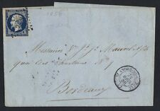 FRANCE 1856 NAPOLEON III 20¢ IMPERF INDIGO COLOR ON BLUISH Sc. #UNLISTED IN THE