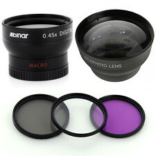 37mm Wide Tele Lens Kit, CPL-UV-FLD Filters for Sony HDR-XR500V, HDR-XR520VE,USA