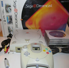 Sega Dreamcast Boxed Console System Bundle w/ 18 games Smash Pack & New Battery
