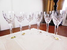 Waterford Crystal ARAGLIN Sherry Wine Glasses Set / 6 RARE MADE IN IRELAND NICE!