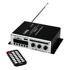 Lepy LP-V9S DC 12V 20WX2 Remote Mini Hi-Fi Digital Stereo Audio Amplifier USB FM