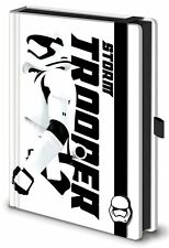 A5 Premium Notizbuch STAR WARS 7- White Stormtrooper Force Awakens Lederlook NEU