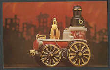 Ca 1972* PPC CHICAGO EZRA BROOKS WHISKEY HONORS 1ST STEAM FIRE ENGINE SEE INFO