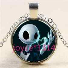 Nightmare Before Christmas Cabochon silver Glass Chain Pendant Necklace #3031
