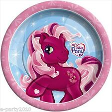 MY LITTLE PONY VINTAGE SMALL PAPER PLATES (8) ~ Birthday Party Supplies Dessert