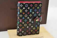 Auth  Louis Vuitton Multicolor Agenda PM Day Planner Cover Black R20895 #U532