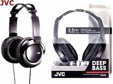 JVC HA-RX330 FULL SIZE EXTRA BASS STEREO OVERHEAD DJ HEADPHONES ORIGINAL / BLACK
