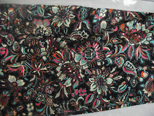 LULAROE TC Black with teal, Pink, White leaves and flowers