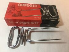 Mason Masterpiece Carve-Rite Meat Carving Fork Turkey Roast Holder in Box USA