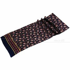 "Gifts Mens 100% Silk Long Scarf/Cravat Scarives Double Layer 63""X12""  Blue"
