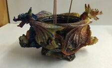 Dragon Incense Holder Polyresin Colored Dragon New Incense Burner