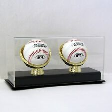 SAF-T-GARD ACRYLIC GOLD GLOVE TWO 2 BASEBALLS DISPLAY CASE - AD27