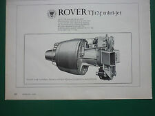 5/1970 PUB ROVER GAS TURBINE ROVER TJ 125 MINI JET TURBOREACTEUR ORIGINAL ADVERT