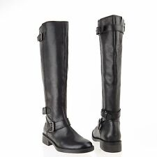 Women's Enzo Angiolini Sayin Shoes Black Leather Riding Boots Sz 5 M NEW! $200