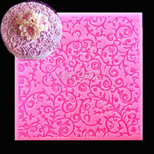 Silicone Fondant Cake Petal Paste Mold Ivy Vine Lace Embosser Decorating