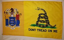 Don't Tread On Me New Jersey Gadsden Flag 3' x 5' Gun Right USA Banner