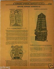 1915 PAPER AD 6 PG Hohner Sore Display Harmonica Cabinet Drum Major Hotz Echo