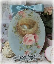 "~ Nest & Roses"" ~ Vintage~Shabby Chic~Country Cottage style ~ Wall Decor Sign ~"