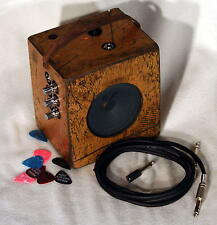 Cigar Box Guitar Amplifier 10 WATTS +Three inputs + Overdrive, See Video
