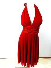 MIXIT WOMENS RED SATIN &CHIFFON EVENING DRESS SIZE 4