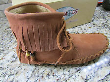 NEW PEACE MOCS MARGARET MOCCASIN SHOES WOMENS 11 MID BOOTIES MOCS TAN FREE SHIP