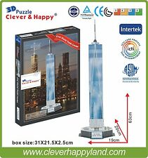Clever&Happy 3D Puzzle Model One World Trade Center Educational Toys Adult Paper