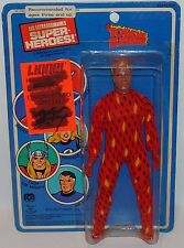 "MINT ON CARD 1979 MEGO WGSH FANTASTIC 4 HUMAN TORCH 8"" ACTION FIGURE MOC MIB"