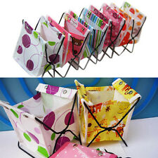 Mini Foldable Pen Pencil Organizer Storage Bag Fabric Cosmetic Stand Box Case