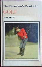 OBSERVER's BOOK of GOLF No.58 by TOM SCOTT 1982 EDITION