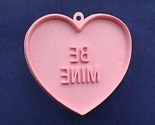 BUY1&GET1@50%~Hallmark COOKIE CUTTER Valentines CANDY HEART BE MINE PINK HRD Vtg