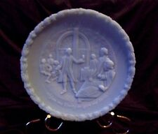 Vintage Fenton Portrait of Liberty 1st Plate BLUE Satin   1973 Give Me Liberty