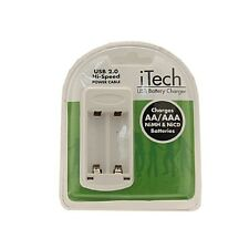 USB Battery Charger for Ni-MH AA & AAA Rechargeable Batteries Charging Portable