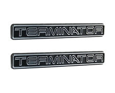 "2003-2004 Mustang Cobra Chrome & Black Terminator Fender Trunk 5"" Emblems - Pair"