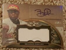 2013 Topps Triple Threads Brandon Phillips Auto & Game-Used #36/99 Reds