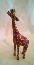 Small Hand Carved and Painted Wooden Giraffe (20cms)( 8ins)