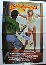 SEX APPEAL 1986 ORIG VHS VIDEO MOVIE POSTER HIGH SCHOOL TEEN COMEDY