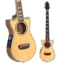 Lindo Solid Spruce Top Voyager Electro-Acoustic Travel Guitar with Preamp -Light