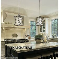 1 MODERN FARMHOUSE TUSCAN ANTIQUE BLACK SCHOOLHOUSE KITCHEN ISLAND LIGHT FIXTURE