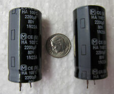 2200uF 80V  Panasonic TS-HA series 105°C snap in Electrolytic Capacitors 4 pcs