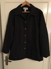 Excellent Mens Orvis Navy Blue Quilted Jacket L