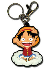 **License** One Piece PVC Keychain SD Monkey D. Luffy On Cloud #4953