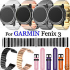 Luxury Stainless Steel Soft Silicone Watch Band Strap LOT【For GARMIN Fenix 3/HR】